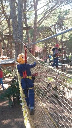 Le Ragnatele: percorso bianco (bambini minimo 1,45 mt con mani alzate)