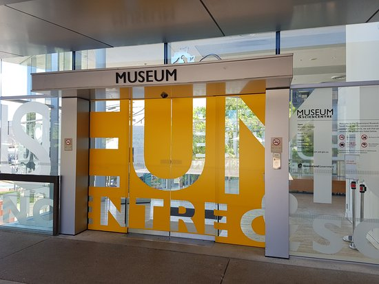 Foyer Museum Queensland : Whale hall outside entrance on first floor picture of