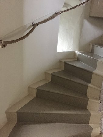 Peverell's Tower: staircase to the bathroom