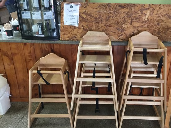 Latrobe, Australia: Abundance of high chairs
