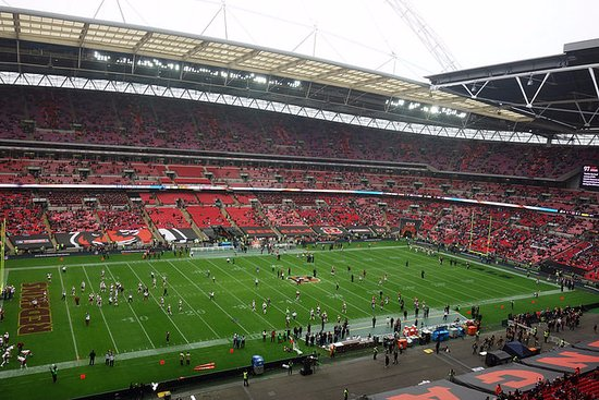 view from our seat block 530 picture of wembley. Black Bedroom Furniture Sets. Home Design Ideas