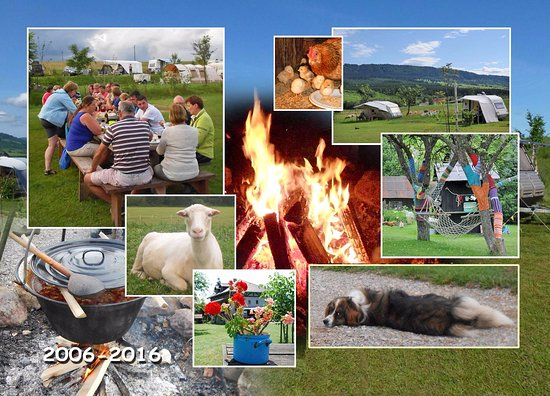 Brezno, Slovakia: impression of the atmosphere on the campsite. I like the evening campfires!