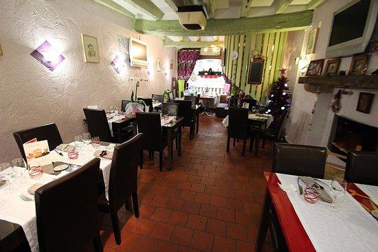 La Table d'Oste : L'intérieur du restaurant