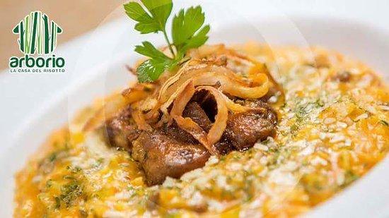 Arborio Restaurant La Casa del Risotto: Fried pork over pigion peas risotto