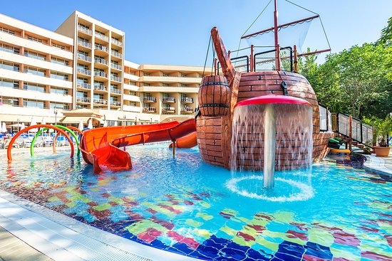Pirate ship pool picture of laguna park hotel sunny - Sunny beach pools ...