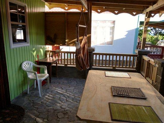 Calibishie, Dominica: terrace