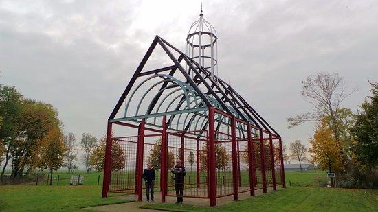 Friesland Province, Nederland: Contourenkerkje te Witmarsum