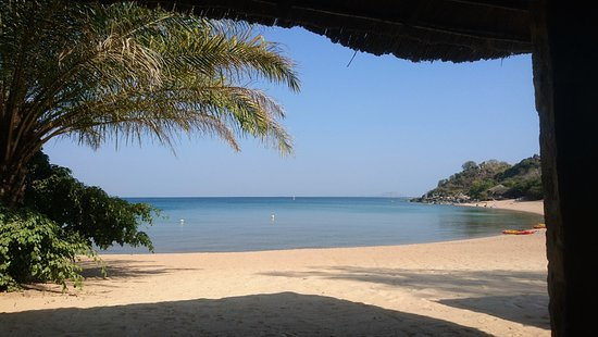 """Likoma Island, Μαλάουι: Sicht aus dem """"Speisesaal"""""""