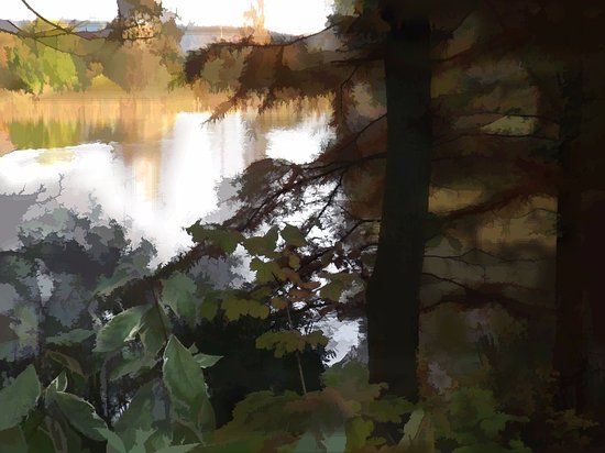"Bodenham Arboretum Restaurant: A photo ""sketch"" for a painting"
