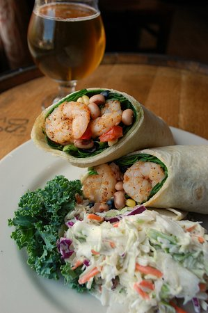 Front Street Brewery: Carolina Shrimp Wrap with Coastal Kolsch