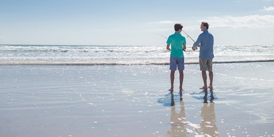 Fishing on the New Smyrna Beach