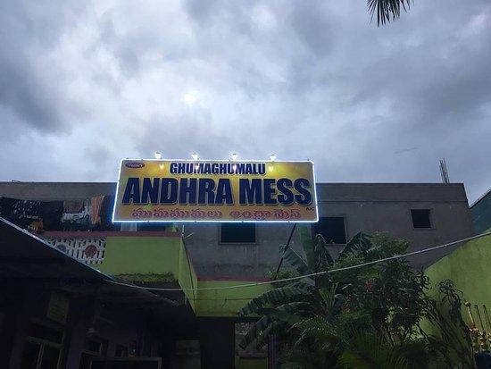 GhumaGhumalu Andhra Mess: Sky view Board