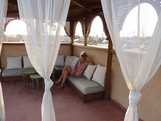 Riad Altair: Terrasse supérieure