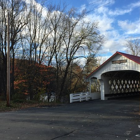 Ashuelot, NH : View of bridge with trees nearby