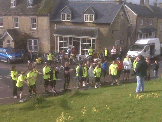 Chadlington, UK: Charity bike ride at Cafe de la Post