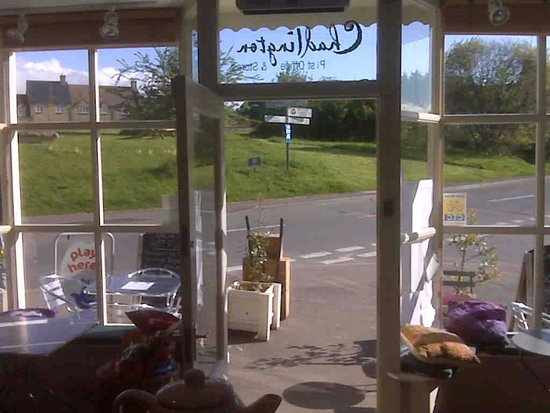 Chadlington, UK: Looking out from Cafe de la Post