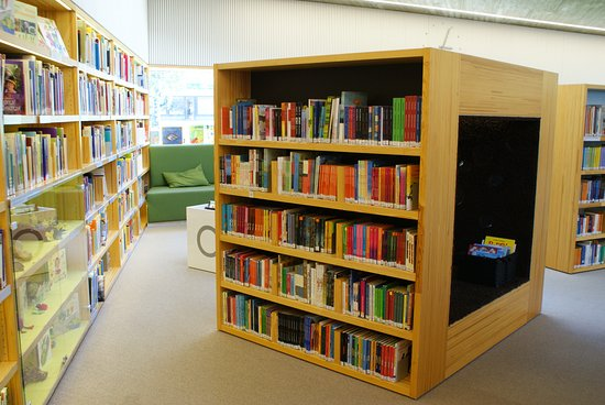Seinajoki, Finland: The childrens' department has noise blocking cubes for playing and reading
