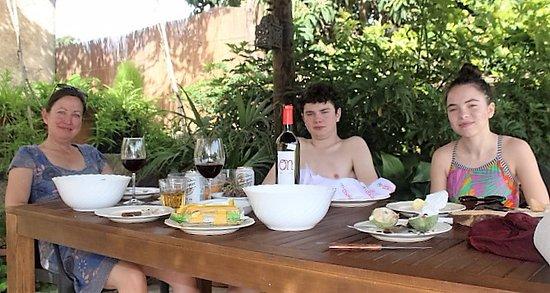 Maria de la Salut, Spain: Ses Cases Noves Poolside dining