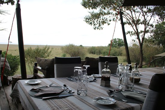 Mara Plains Camp: View for lunch
