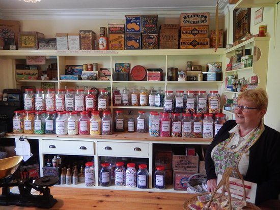 Highland Folk Museum: This is the lolly shop - all the jars are full of old recipe lollies.