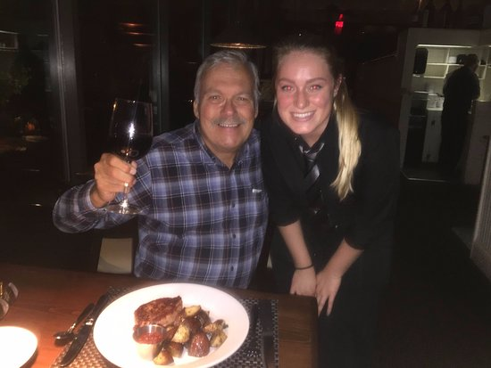 Me and the great server Megan who helped me pick the perfect choices at the Lambertville Station