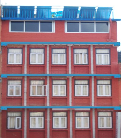 Hotel Visit Nepal : Hotel building, it lies in Thamel, tourists hub,16 rooms all attached bathrooms, can enjoy 360 v