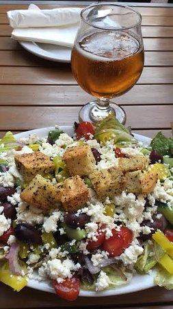Charleston, WV: Greek Salad & Leffe Blond Beer
