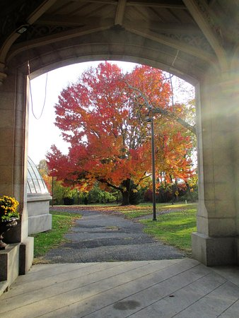 Lockwood-Mathews Mansion Museum: Grand entrance-way - people arrived by horse and buggy...