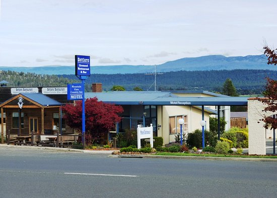 Deloraine, Australia: Motel View from the Road