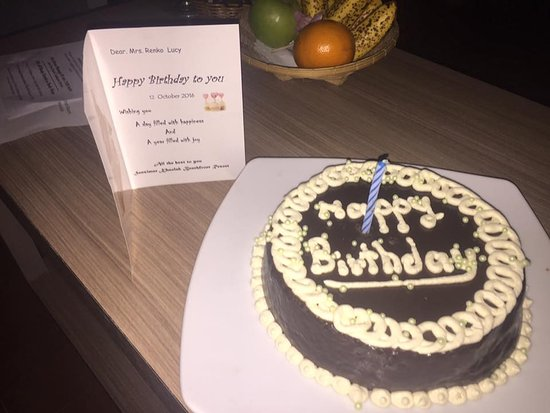 Received A Beautiful Birthday Cake And Card Thank You Sensimar