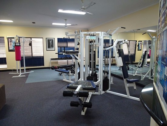 Trinity Links Resort and Apartments: Gym adjoining reception area