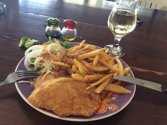 3c663a75816 Fish and Chips and a nice white wine - Picture of Seafood By Pawn ...