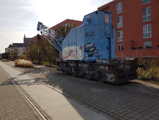 Frankfurt (Oder), Germany: Kran auf der Oderpromenade