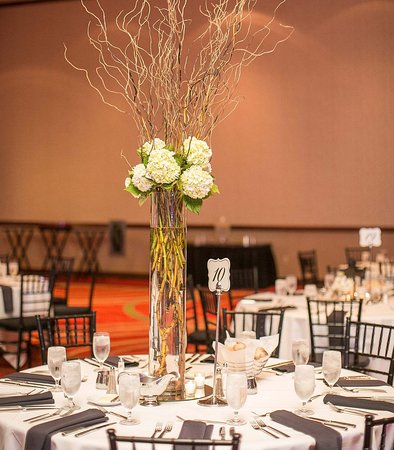 Coralville Marriott Hotel & Conference Center: Coral Ballroom - Reception Setup