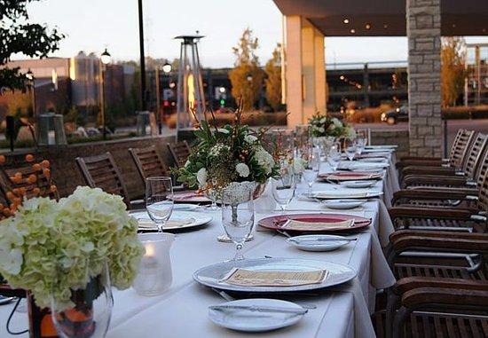 Coralville Marriott Hotel & Conference Center: Social Terrace - Wedding Reception Details