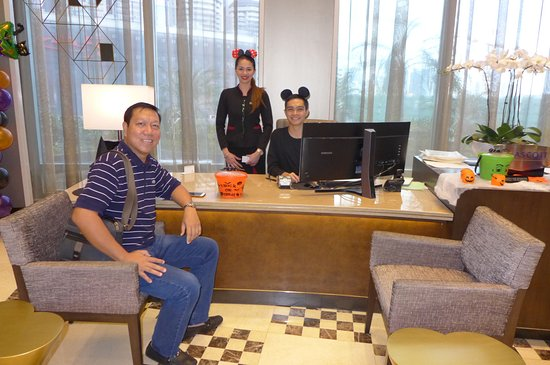 Front Office staff Carmela & Davies in Halloween attire@Ascott Makati