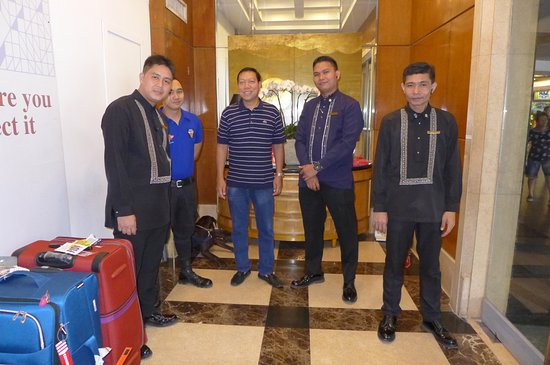 With friendly security staff@Ascott Makati