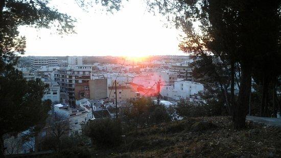 Sun Rising Over The Sea Looking Down From Castella De Santa Ana