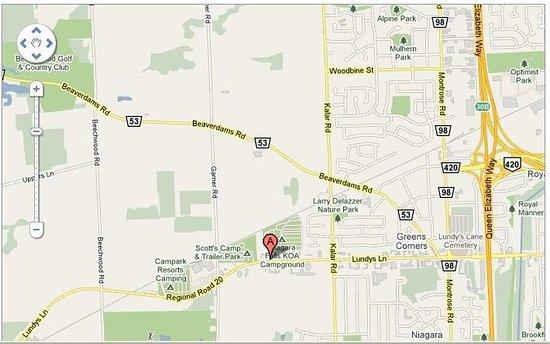 Caravan Inn Niagara Falls: Map
