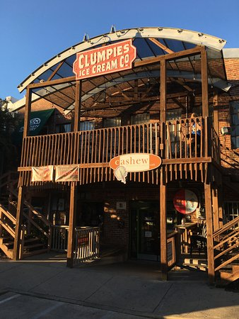Clumpies Ice Cream Co.: ...or you can enter from Chattanooga's Coolidge Park.
