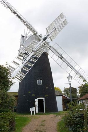 Bury St Edmunds, UK: windmill