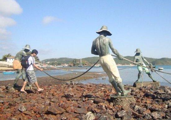 Escultura Os Tres Pescadores