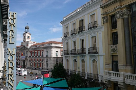 This was our view from the balcony picture of hotel for Hotel moderno madrid