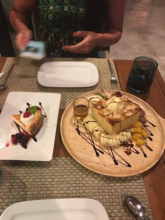friendly staff amazing food the deserts are huge nice atmosphere definitely would recommend picture of wine v bar bistro ao nang tripadvisor