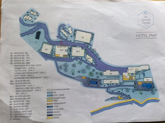 Agios Gordios, Grèce : Map Of Hotel Grounds