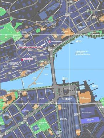 Hotel Falken - Luzern: Map / Location