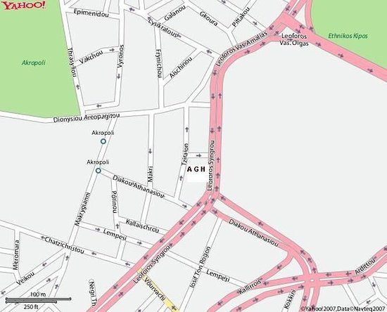 The Athens Gate Hotel: LOCATION MAP