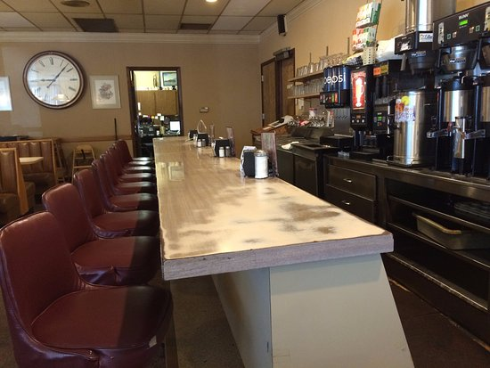 Denison, IA: Front counter of Cronk's