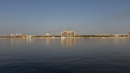 Heihe, Cina: Вид на Благовещенск с китайского берега