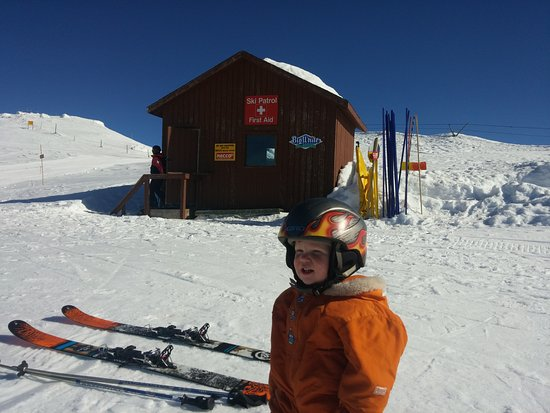 Big White, Kanada: Hankster at the top of the Tbar